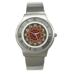 Background Metallizer Pattern Art Stainless Steel Watch