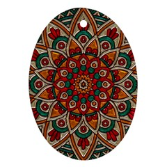 Background Metallizer Pattern Art Oval Ornament (Two Sides)