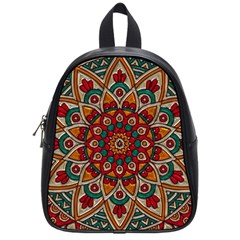 Background Metallizer Pattern Art School Bags (Small)