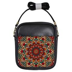 Background Metallizer Pattern Art Girls Sling Bags