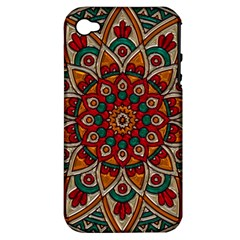 Background Metallizer Pattern Art Apple Iphone 4/4s Hardshell Case (pc+silicone)