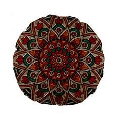 Background Metallizer Pattern Art Standard 15  Premium Round Cushions
