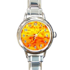 Background Image Abstract Design Round Italian Charm Watch