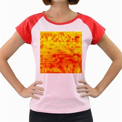 Background Image Abstract Design Women s Cap Sleeve T Shirt