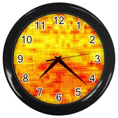 Background Image Abstract Design Wall Clocks (Black)