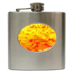 Background Image Abstract Design Hip Flask (6 Oz)