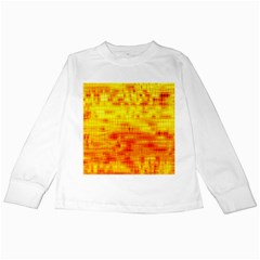 Background Image Abstract Design Kids Long Sleeve T-Shirts