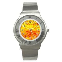 Background Image Abstract Design Stainless Steel Watch