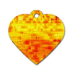 Background Image Abstract Design Dog Tag Heart (Two Sides)