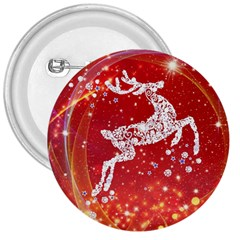 Background Reindeer Christmas 3  Buttons