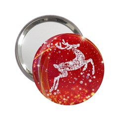 Background Reindeer Christmas 2.25  Handbag Mirrors