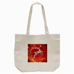 Background Reindeer Christmas Tote Bag (cream)
