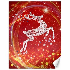Background Reindeer Christmas Canvas 12  x 16