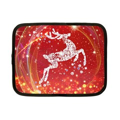 Background Reindeer Christmas Netbook Case (Small)