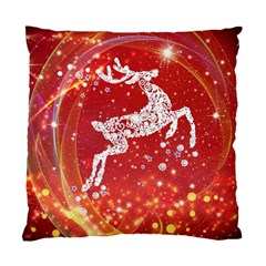 Background Reindeer Christmas Standard Cushion Case (Two Sides)