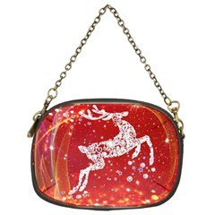 Background Reindeer Christmas Chain Purses (two Sides)