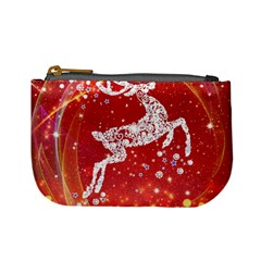 Background Reindeer Christmas Mini Coin Purses