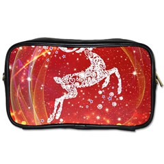 Background Reindeer Christmas Toiletries Bags 2-Side