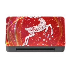 Background Reindeer Christmas Memory Card Reader With Cf