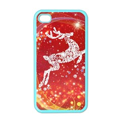 Background Reindeer Christmas Apple iPhone 4 Case (Color)