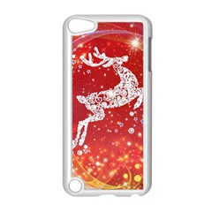 Background Reindeer Christmas Apple iPod Touch 5 Case (White)