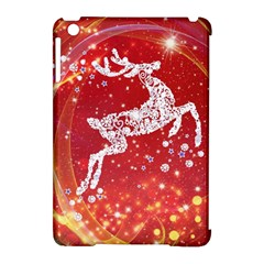 Background Reindeer Christmas Apple iPad Mini Hardshell Case (Compatible with Smart Cover)