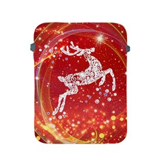 Background Reindeer Christmas Apple Ipad 2/3/4 Protective Soft Cases