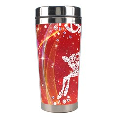 Background Reindeer Christmas Stainless Steel Travel Tumblers