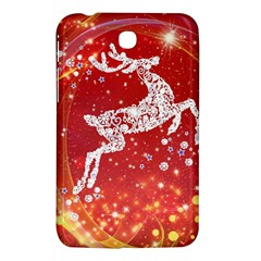 Background Reindeer Christmas Samsung Galaxy Tab 3 (7 ) P3200 Hardshell Case