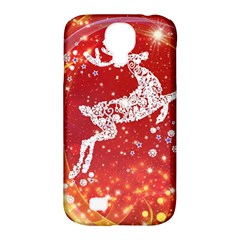 Background Reindeer Christmas Samsung Galaxy S4 Classic Hardshell Case (pc+silicone)