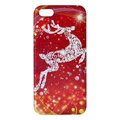 Background Reindeer Christmas Iphone 5s/ Se Premium Hardshell Case