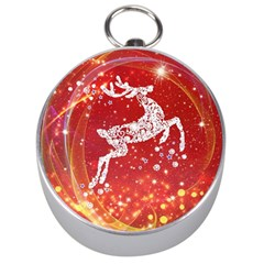 Background Reindeer Christmas Silver Compasses