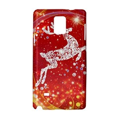 Background Reindeer Christmas Samsung Galaxy Note 4 Hardshell Case