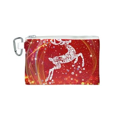Background Reindeer Christmas Canvas Cosmetic Bag (s)