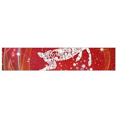 Background Reindeer Christmas Flano Scarf (Small)