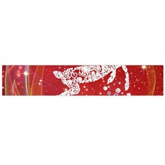 Background Reindeer Christmas Flano Scarf (large)