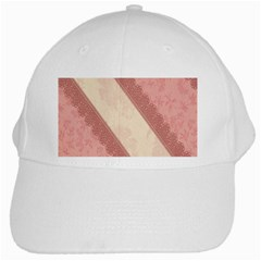 Background Pink Great Floral Design White Cap