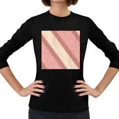 Background Pink Great Floral Design Women s Long Sleeve Dark T-Shirts