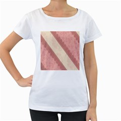 Background Pink Great Floral Design Women s Loose-Fit T-Shirt (White)