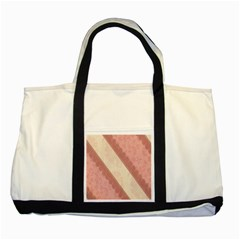 Background Pink Great Floral Design Two Tone Tote Bag