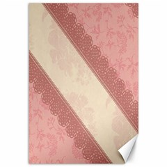 Background Pink Great Floral Design Canvas 12  X 18