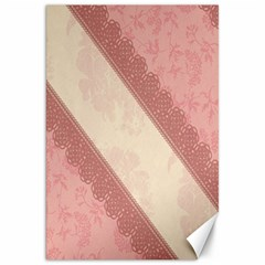 Background Pink Great Floral Design Canvas 20  x 30