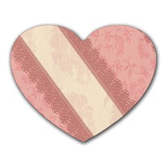 Background Pink Great Floral Design Heart Mousepads