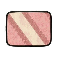 Background Pink Great Floral Design Netbook Case (Small)