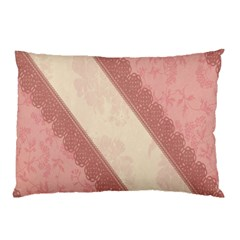 Background Pink Great Floral Design Pillow Case