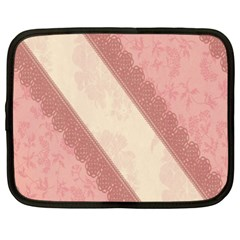 Background Pink Great Floral Design Netbook Case (XXL)