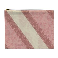 Background Pink Great Floral Design Cosmetic Bag (XL)
