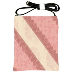 Background Pink Great Floral Design Shoulder Sling Bags