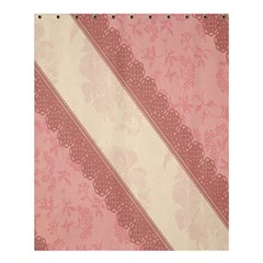 Background Pink Great Floral Design Shower Curtain 60  x 72  (Medium)