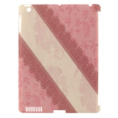 Background Pink Great Floral Design Apple iPad 3/4 Hardshell Case (Compatible with Smart Cover)